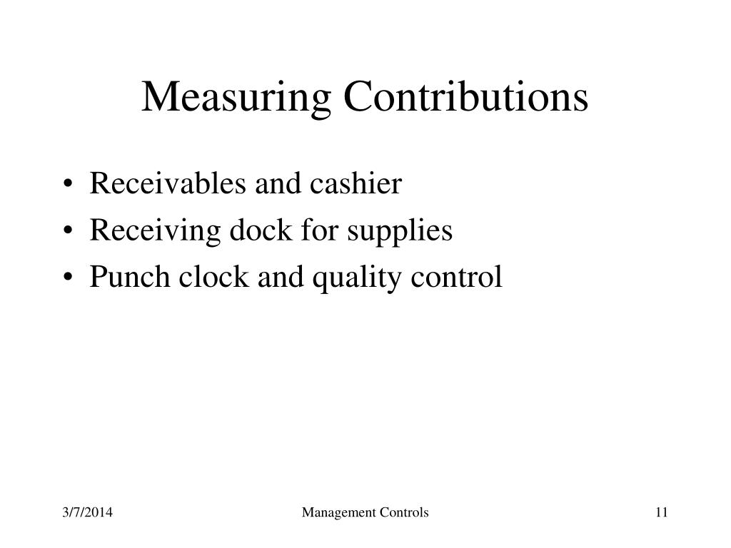 Measuring Contributions
