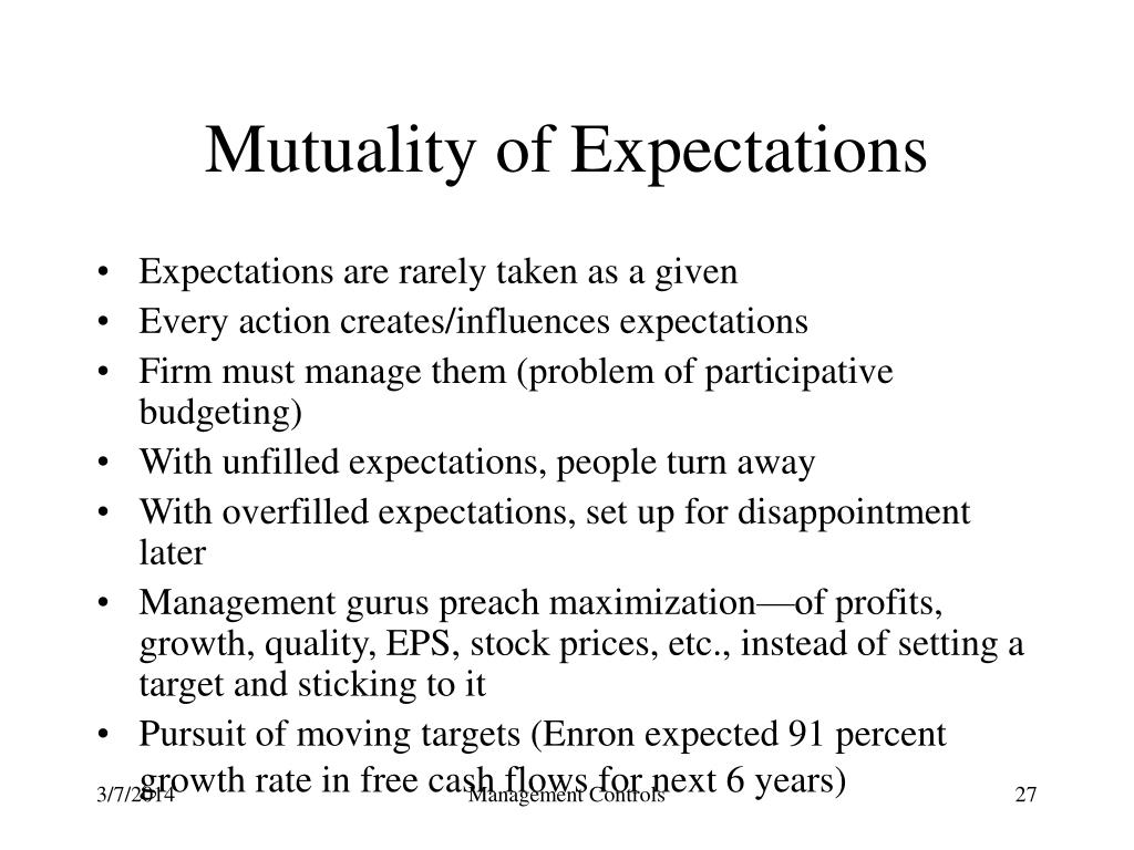 Mutuality of Expectations