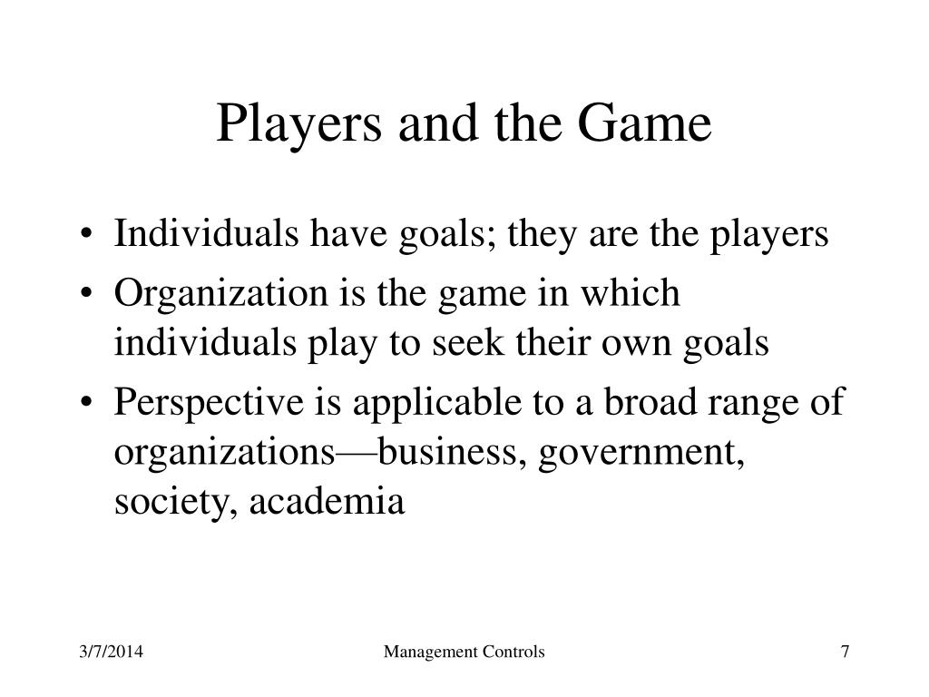 Players and the Game
