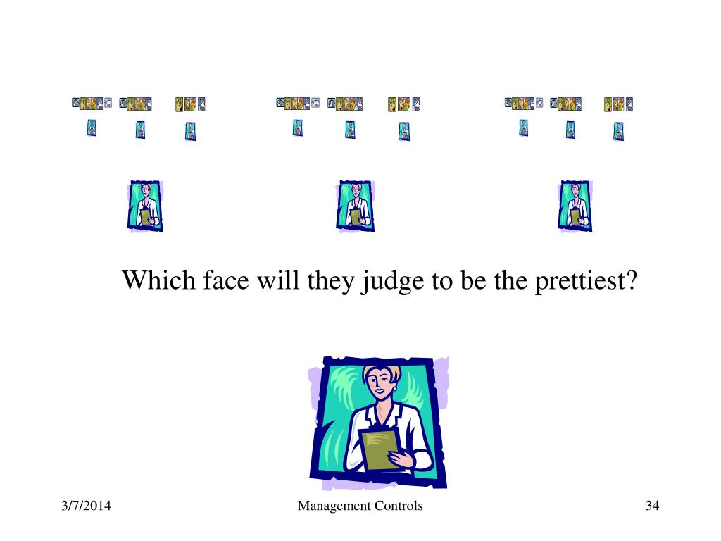 Which face will they judge to be the prettiest?