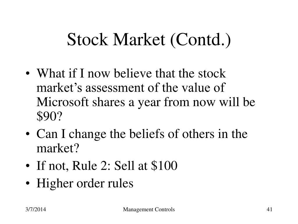 Stock Market (Contd.)