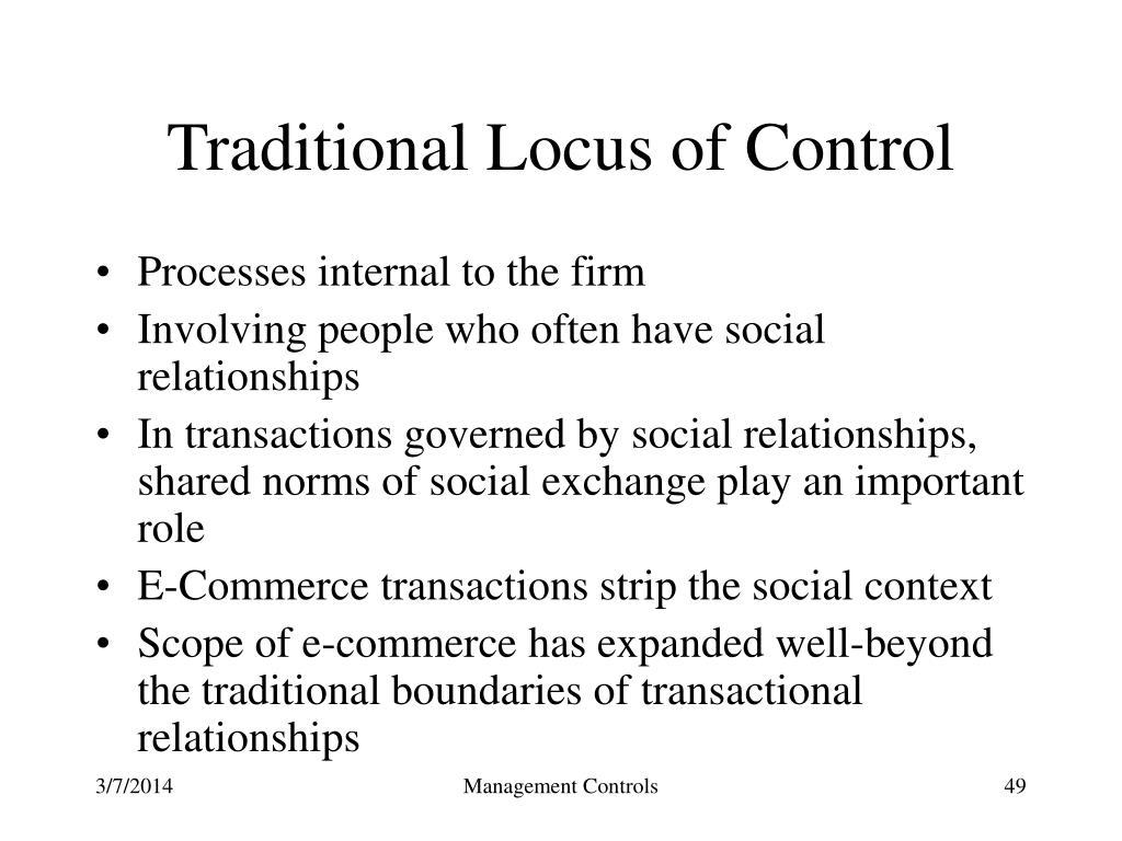Traditional Locus of Control