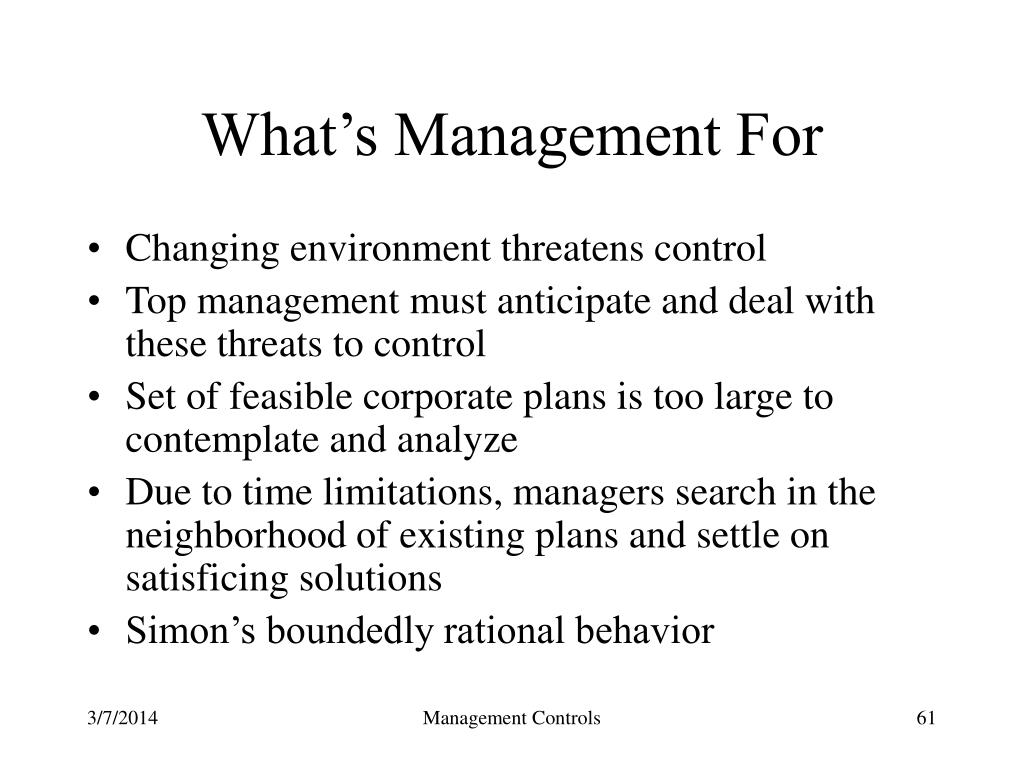 What's Management For