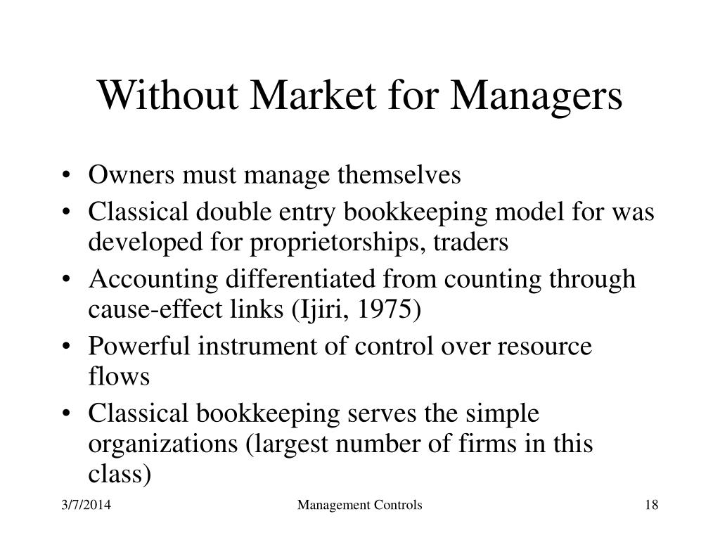 Without Market for Managers