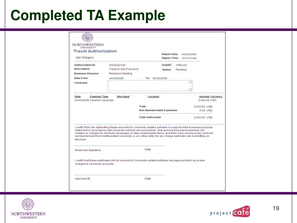 Completed TA Example
