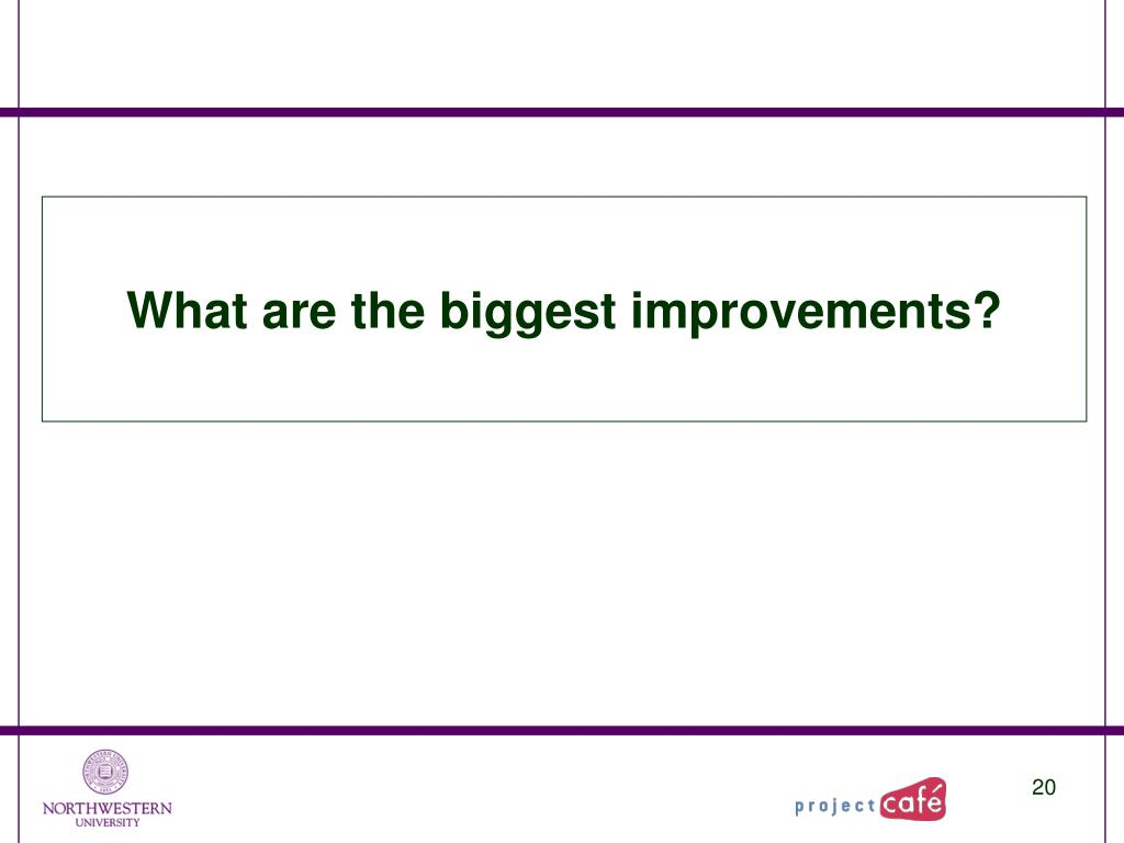 What are the biggest improvements?