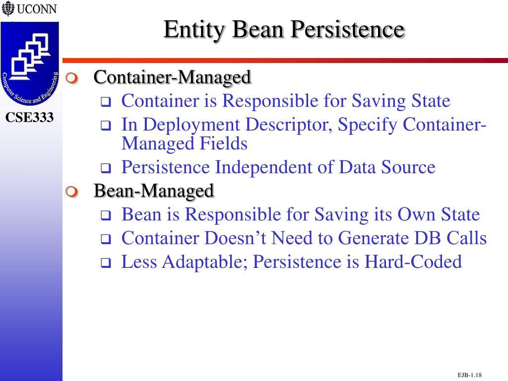 Entity Bean Persistence