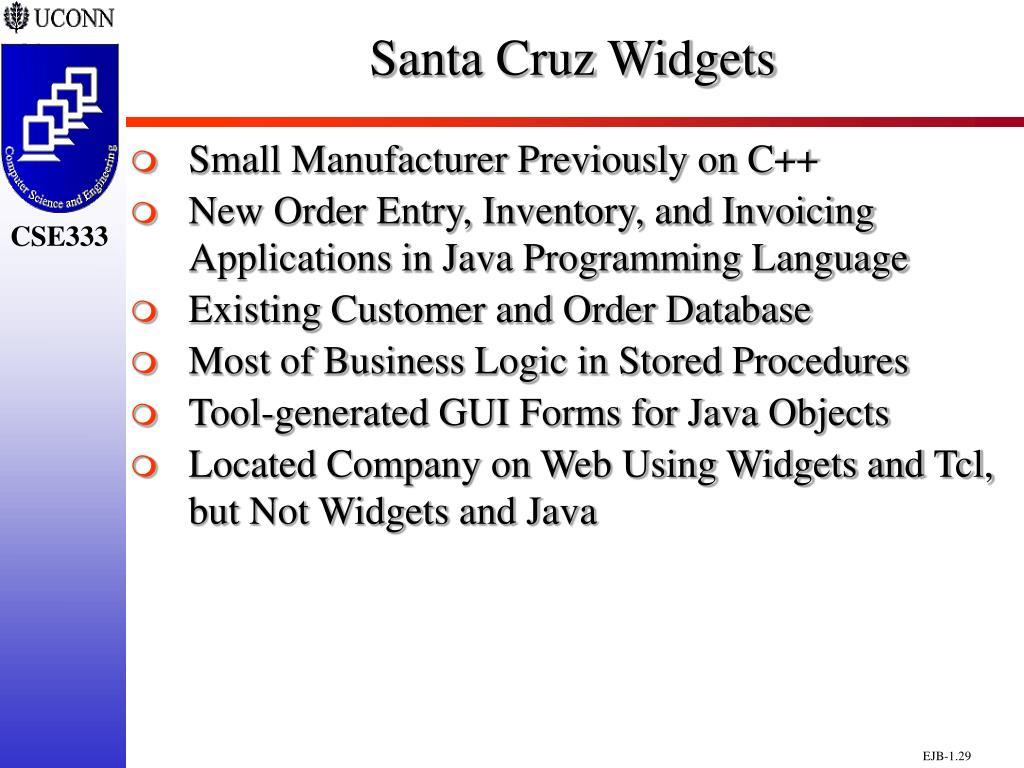 Santa Cruz Widgets