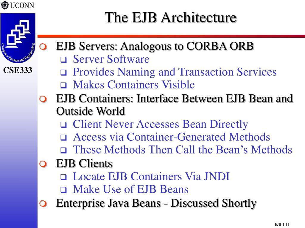 The EJB Architecture