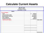 calculate current assets