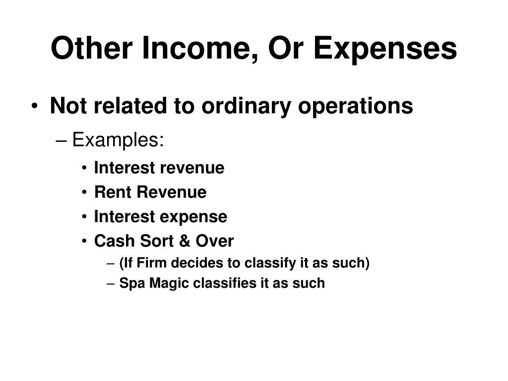 Other Income, Or Expenses