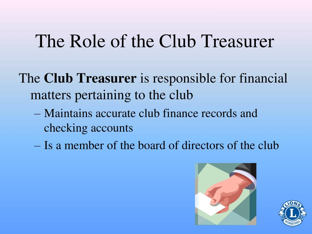 The Role of the Club Treasurer