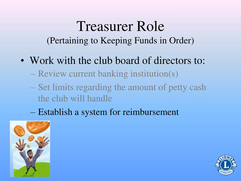 Treasurer Role