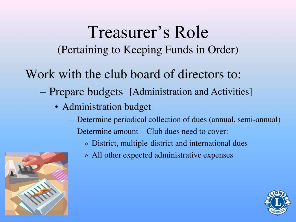 Treasurer's Role