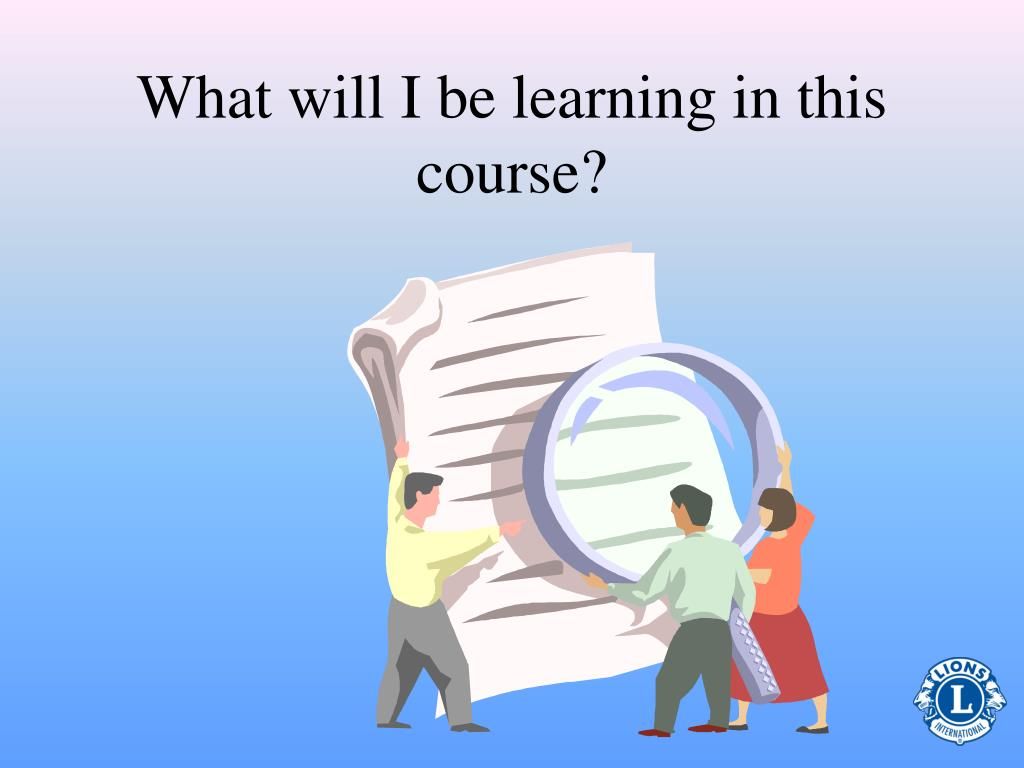 What will I be learning in this course?