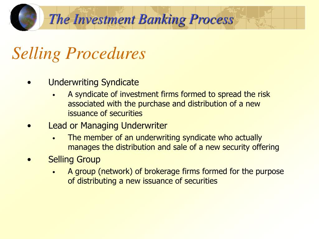 The Investment Banking Process