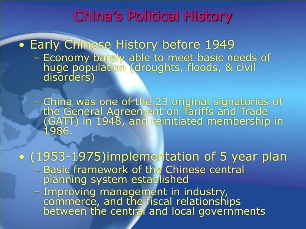 China's Political History