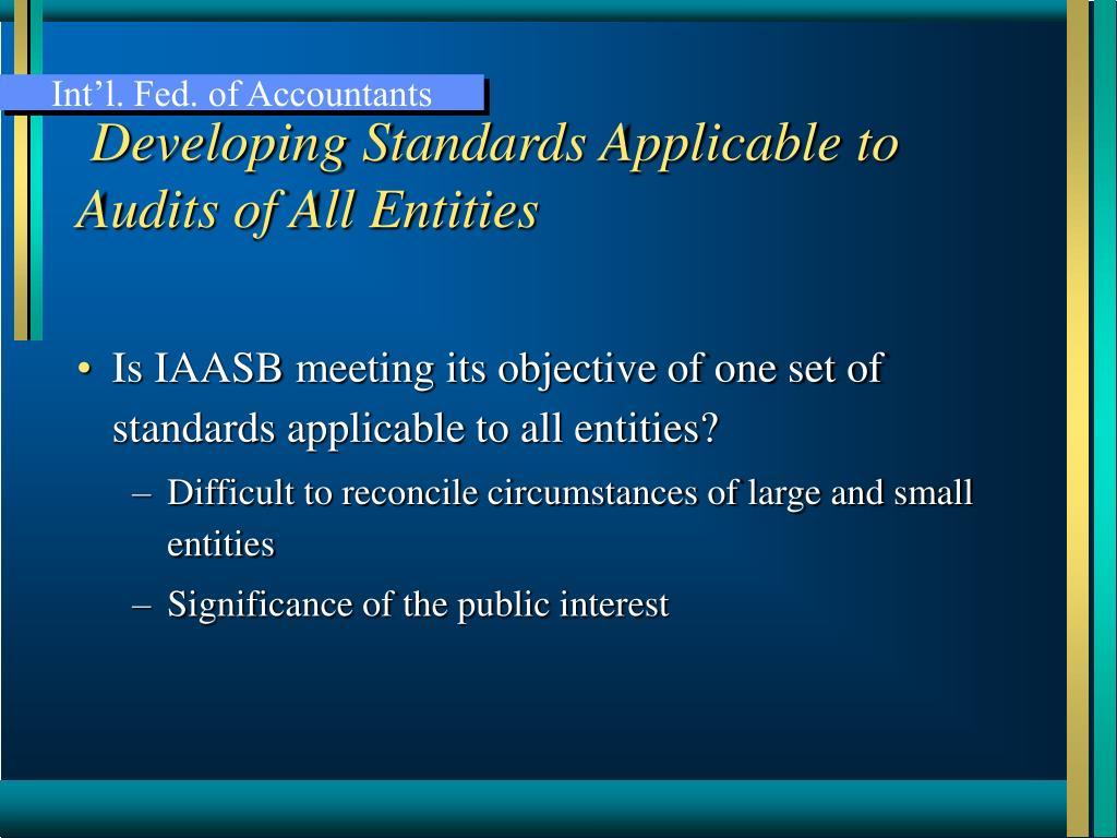 Int'l. Fed. of Accountants