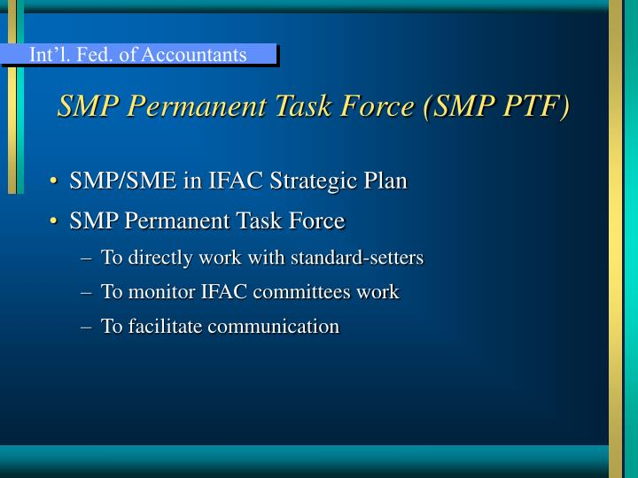 Smp permanent task force smp ptf