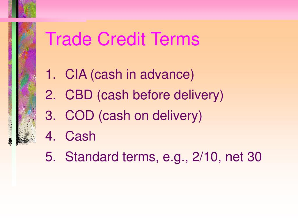 Trade Credit Terms