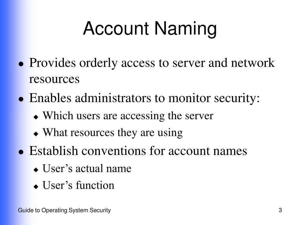 Account Naming