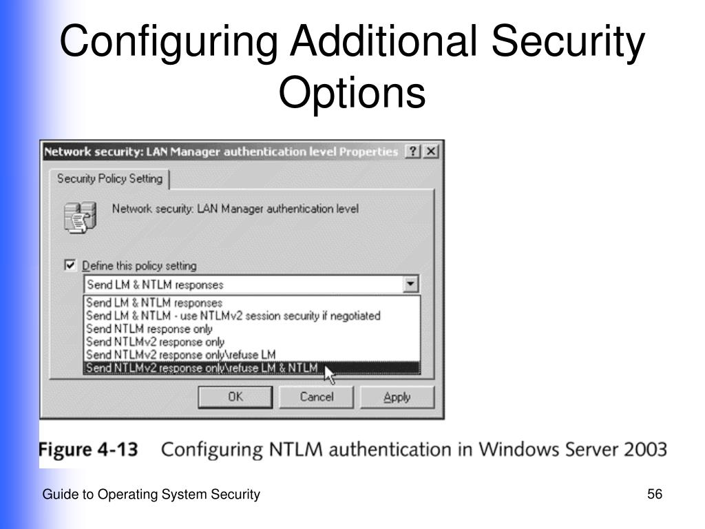 Configuring Additional Security Options