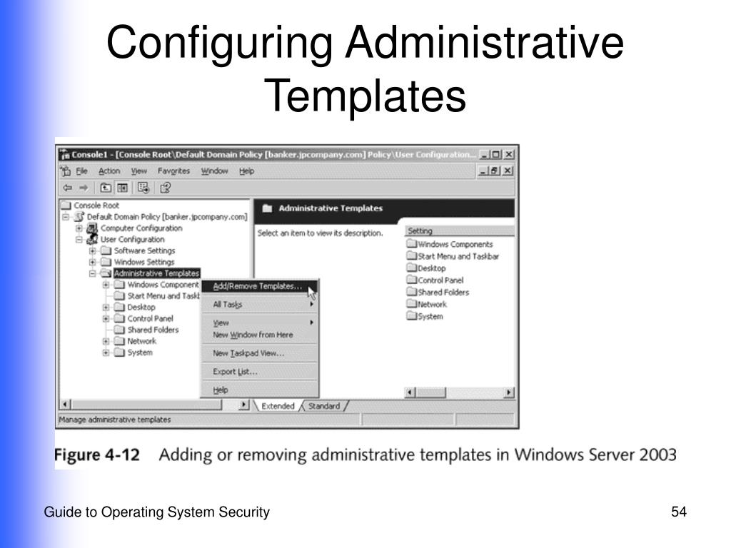 Configuring Administrative Templates
