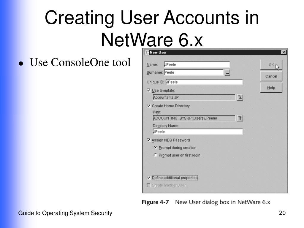 Creating User Accounts in NetWare 6.x