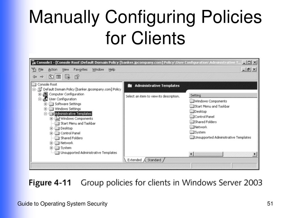 Manually Configuring Policies for Clients