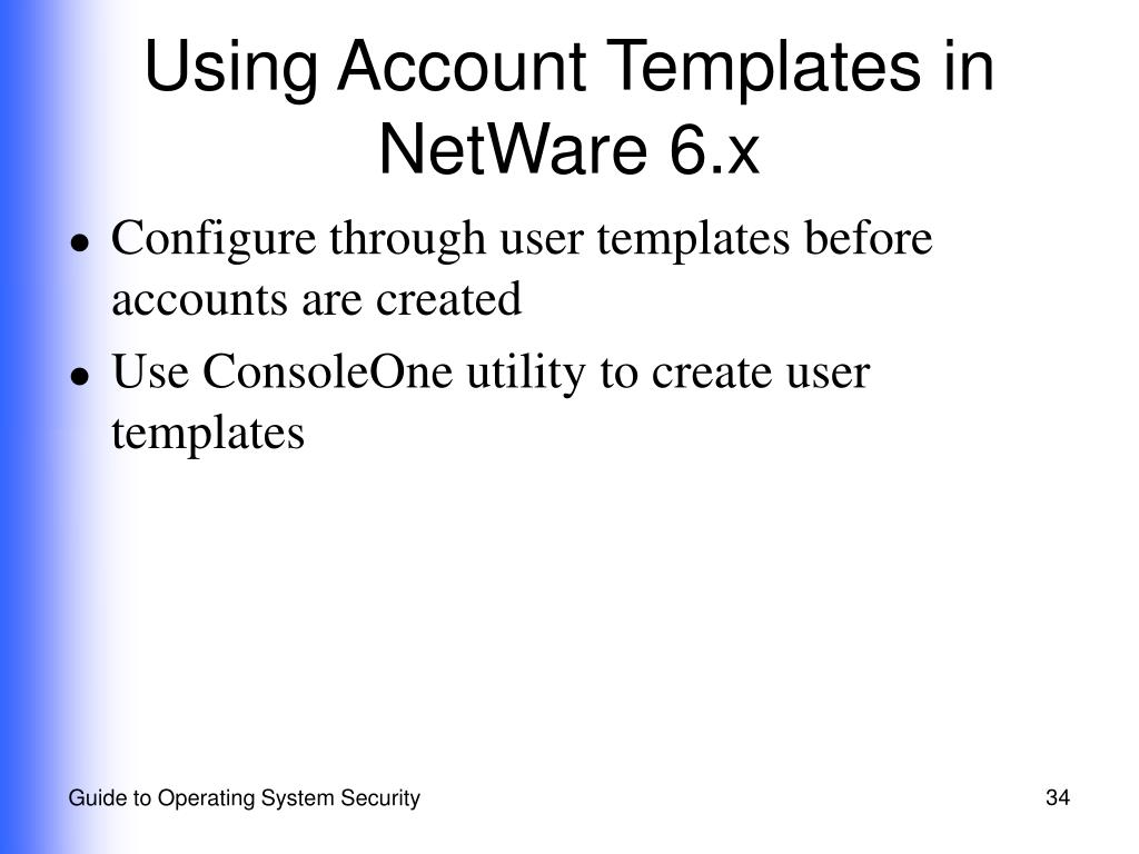 Using Account Templates in NetWare 6.x