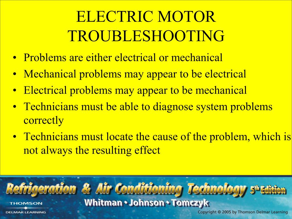 Ppt Section 4 Electric Motors Unit 20 Troubleshooting Electric Motors Powerpoint Presentation