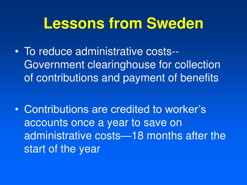 Lessons from Sweden