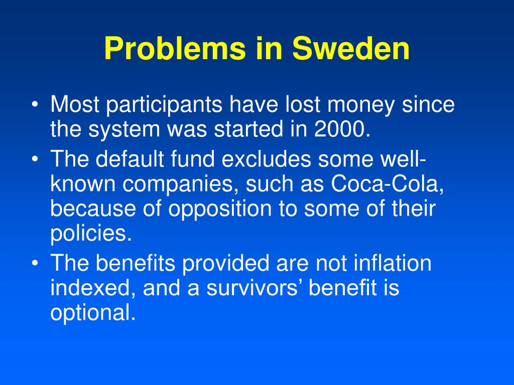 Problems in Sweden