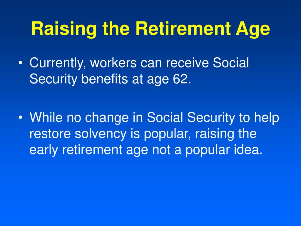 Raising the Retirement Age