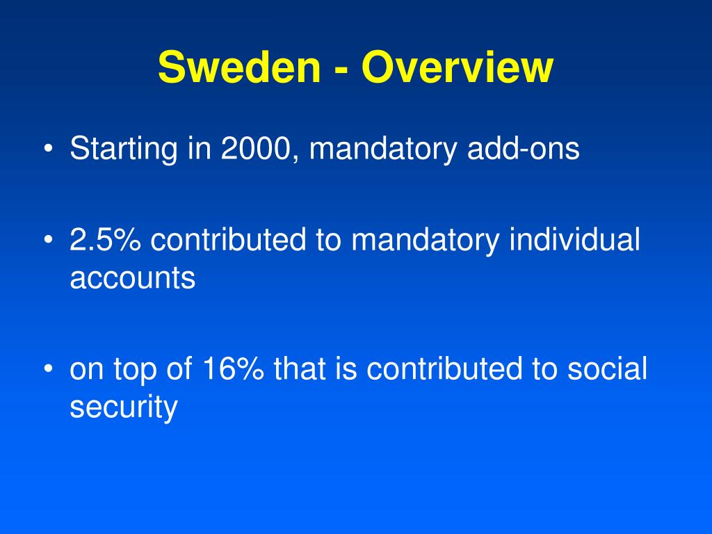 Sweden - Overview
