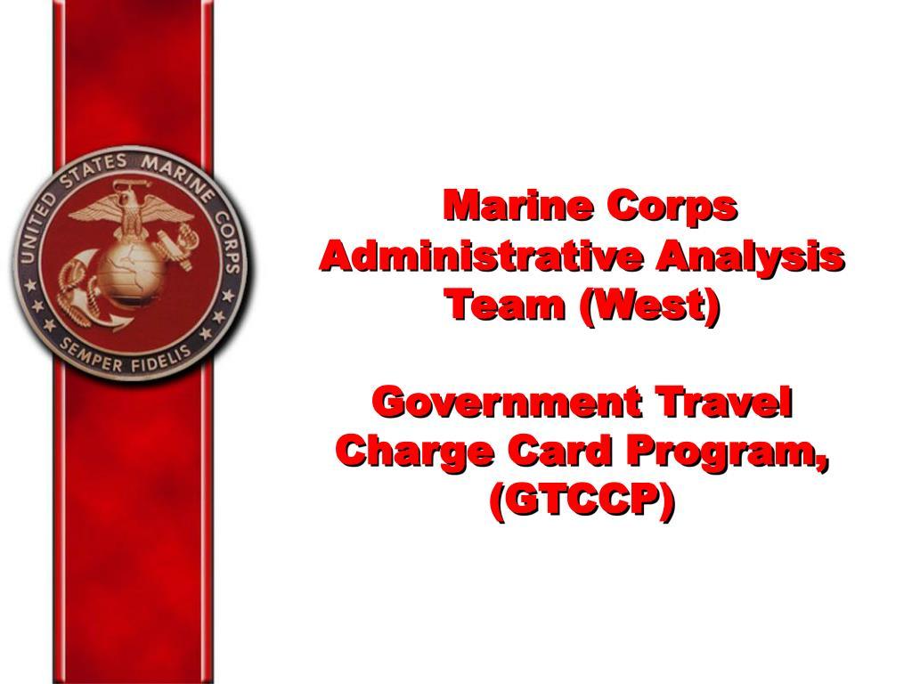 Marine Corps Administrative Analysis Team (West)