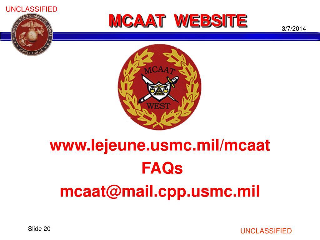 MCAAT  WEBSITE