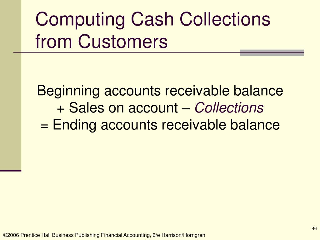 Computing Cash Collections