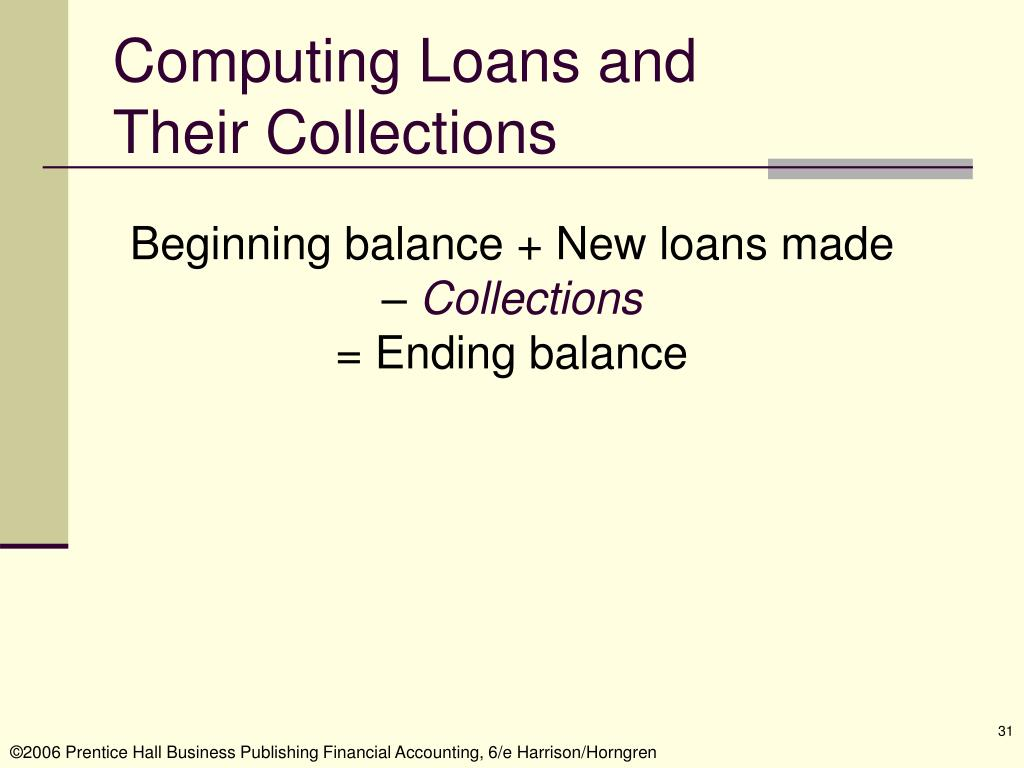 Computing Loans and