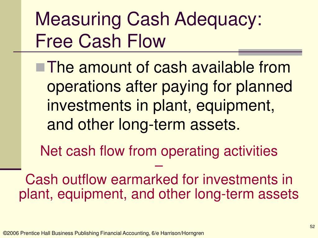 Measuring Cash Adequacy: