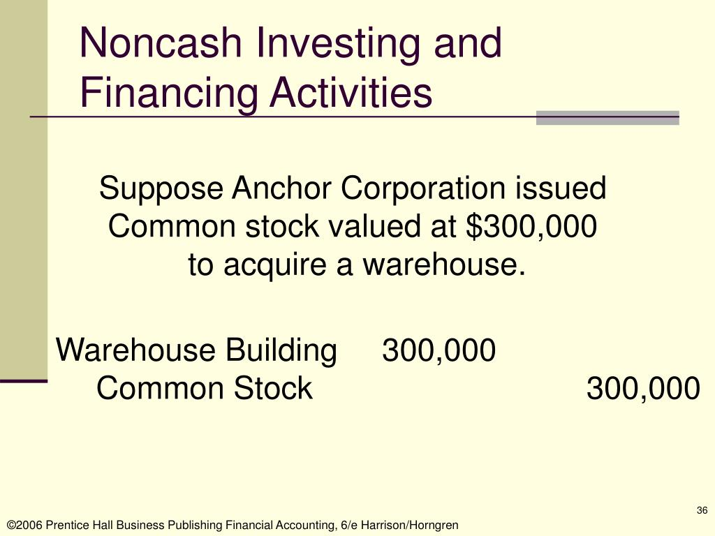 Noncash Investing and