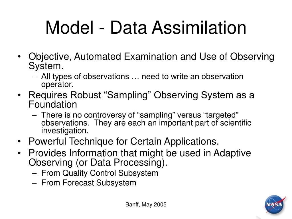 Model - Data Assimilation