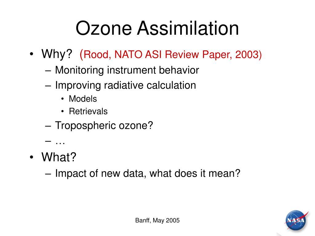 Ozone Assimilation
