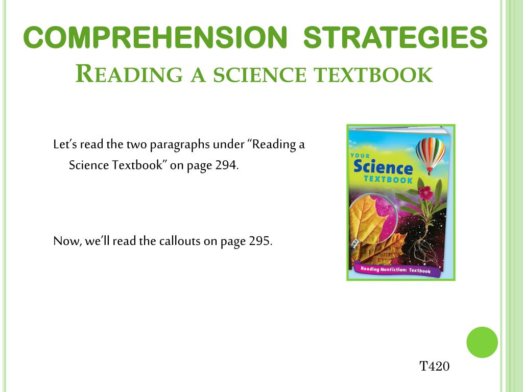 difficulty in comprehending science texts The effects of reading strategies in  and kopel, kandi, the effects of reading strategies in comprehension for  many students have difficulty comprehending.