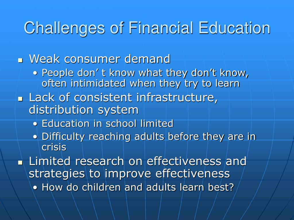 Challenges of Financial Education