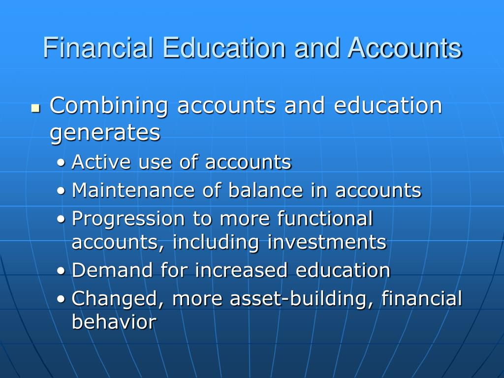 Financial Education and Accounts
