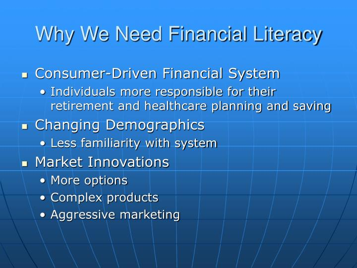 Why we need financial literacy