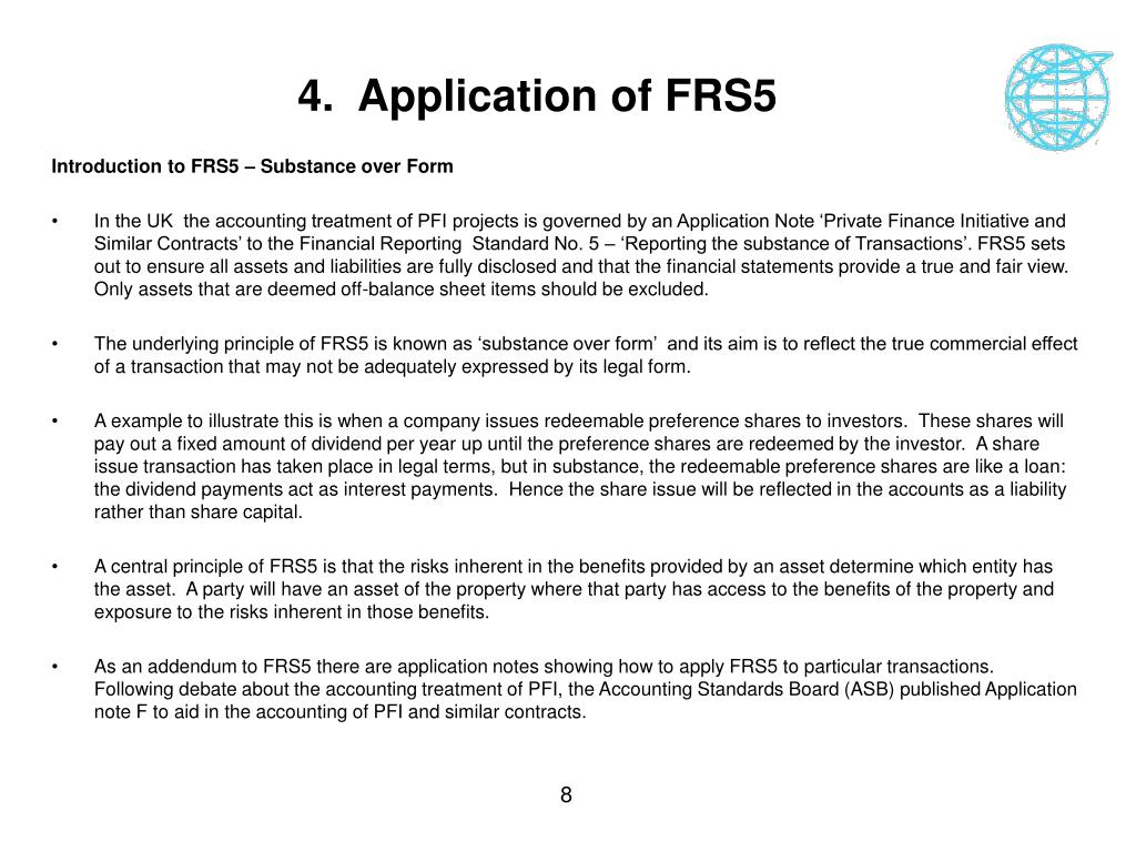 4.  Application of FRS5