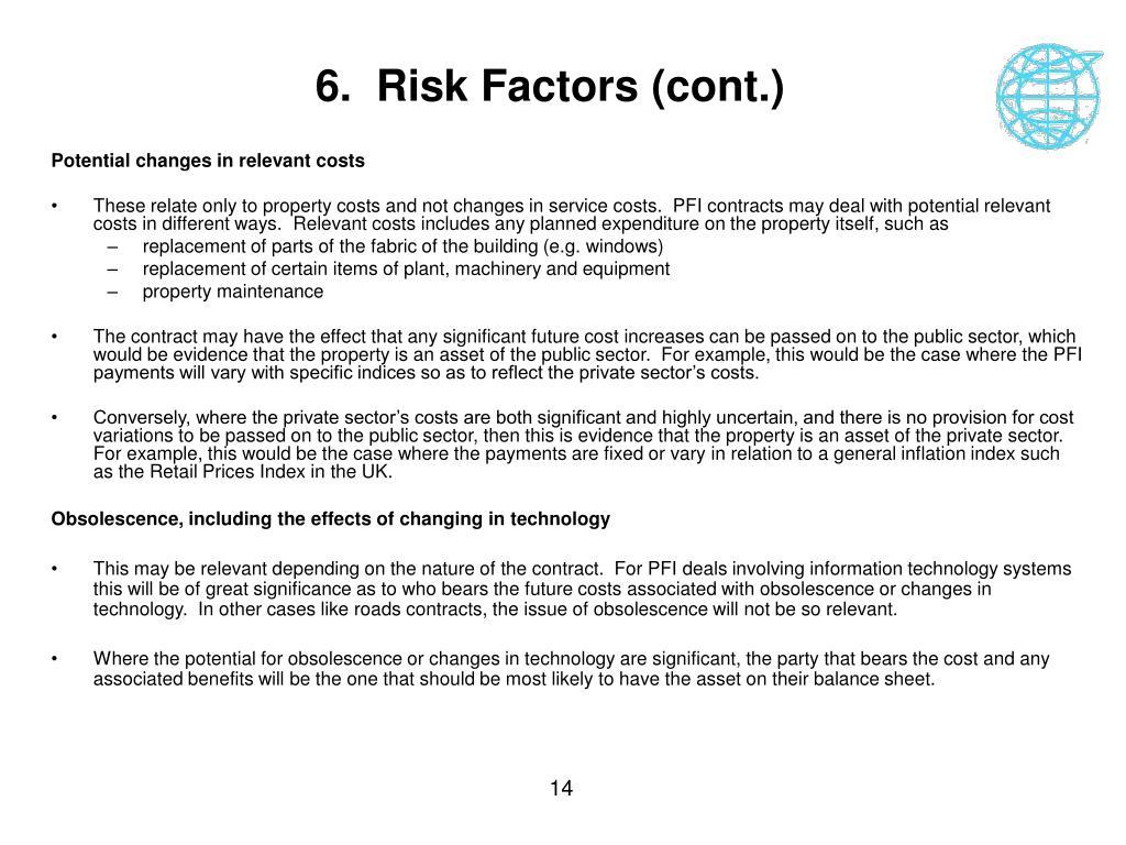 6.  Risk Factors (cont.)