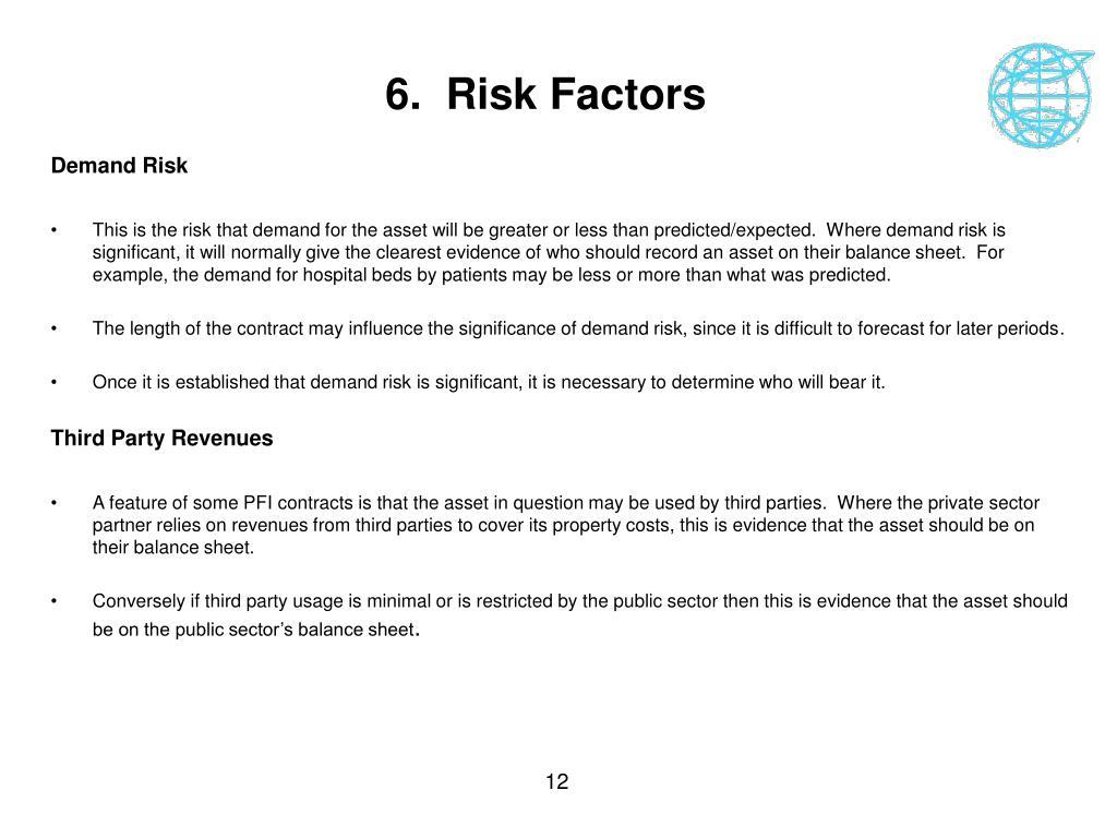 6.  Risk Factors